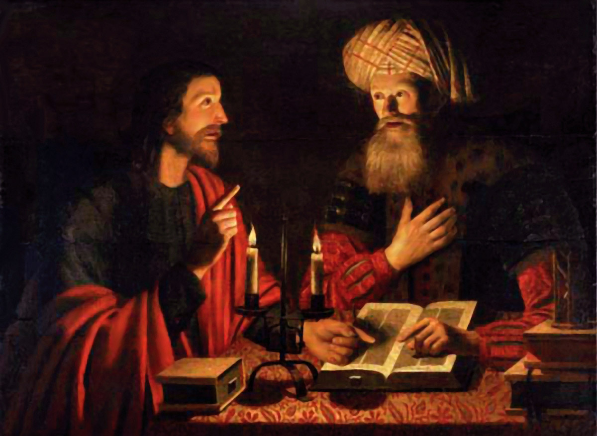 Christ Instructing Nicodemus Crijn Hendricksz, 1604